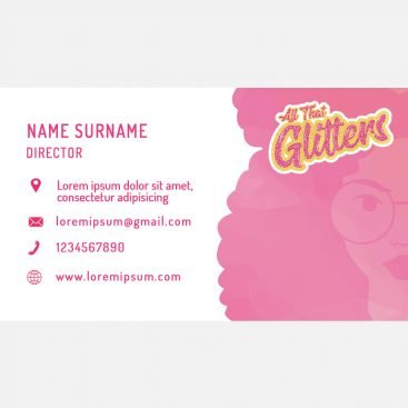 All That Glitters Business Card Back